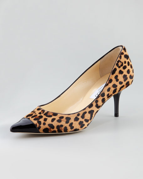 Anvil Croc Cap-Toe Calf Hair Pump