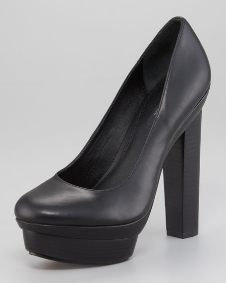 Leather Platform Pump