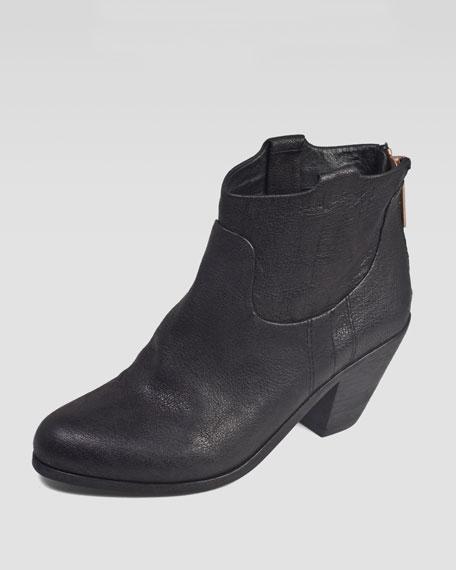 Lisle Western Ankle Boot, Black