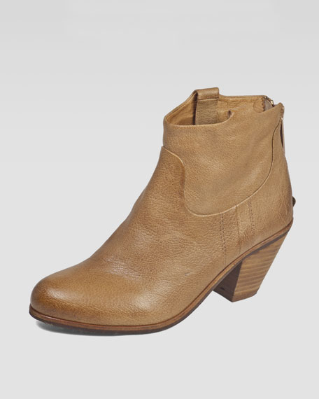 Lisle Western Ankle Boot, Saddle