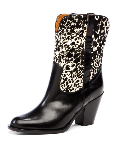 Michael Kors Western Boot With Calf Hair