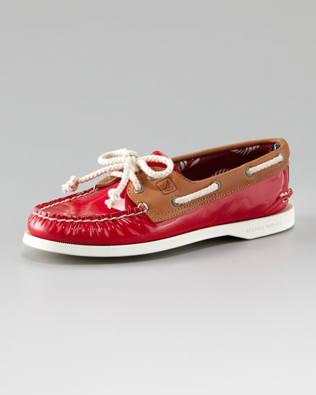 Authentic Patent-Leather Boat Shoe