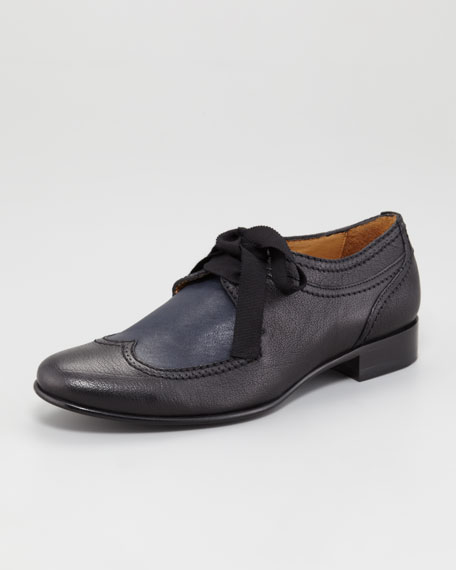 Grosgrain Lace-Up Oxford