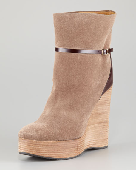 Suede Wedge Boot