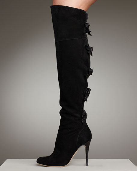 Bow Back Suede Boot