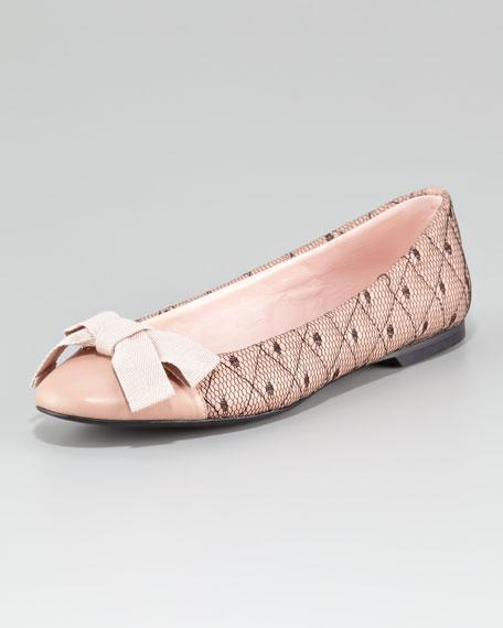 Netted Ballerina Flat