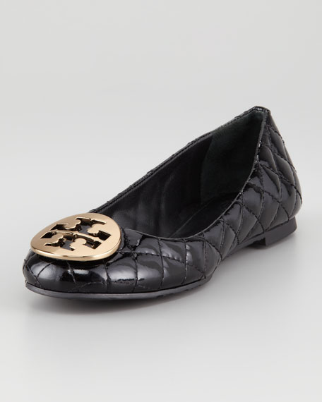 Quinn Quilted Patent Ballerina Flat