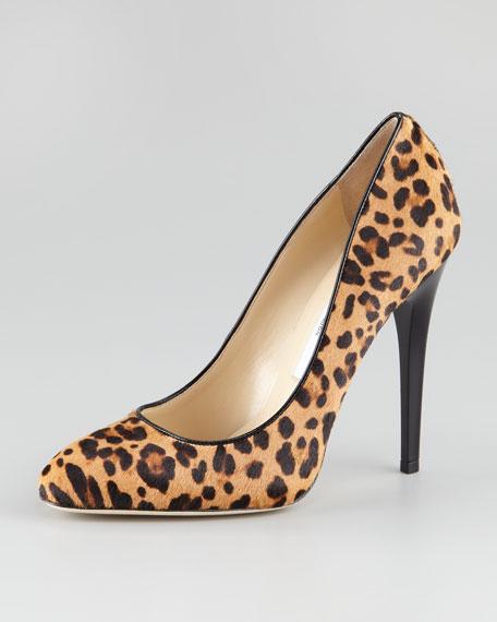 Victoria Leopard-Print Calf Hair Pump