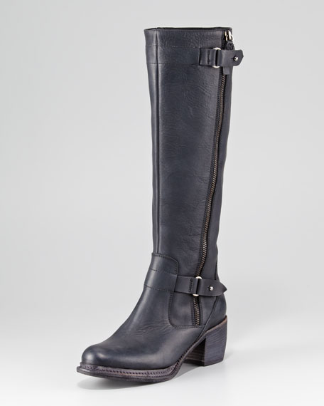 Nessa Oiled Leather Knee Boot