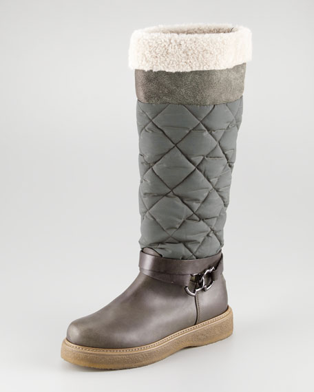 Saas Quilted Cuffable Boot