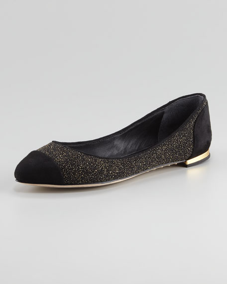 Pointed Cap-Toe Flat