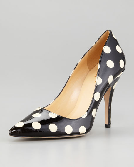 0815a15af960 kate spade new york licorice polka-dot patent leather pump