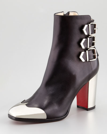 Chelita Metal-Wing-Tip Red Sole Ankle Boot
