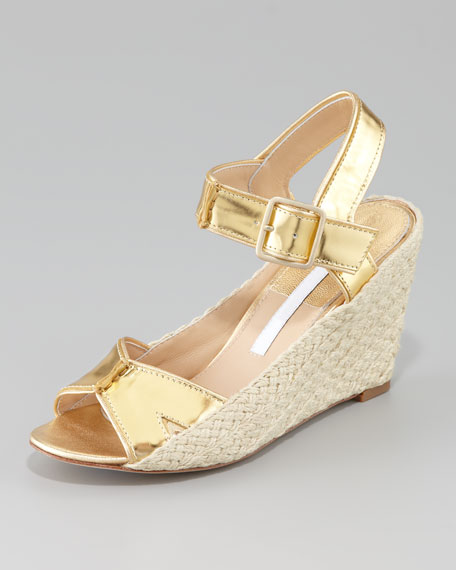 Sudan Metallic Wedge Sandal