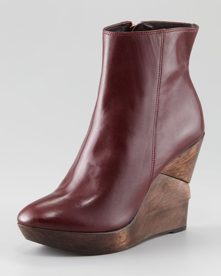 Opalista Stacked Wedge Bootie