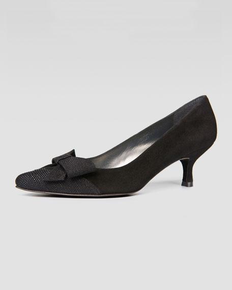 Charmpum Kitten-Heel Pump, Black