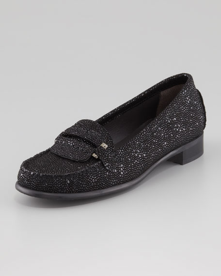 Flaphape Pebbled Napa Leather Loafer