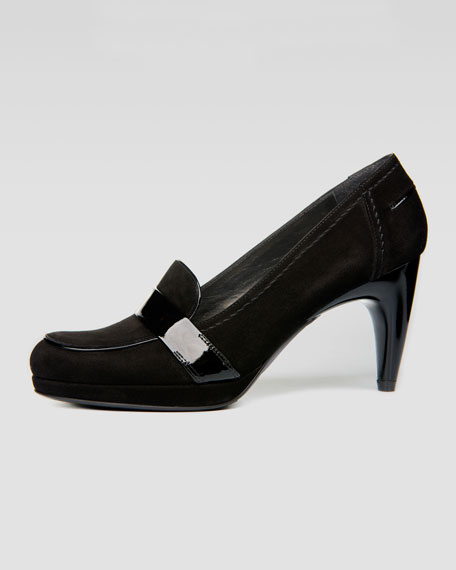 Mocame Molded-Heel Loafer Pump