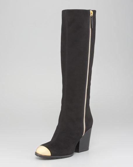 Cap-Toe Side-Zip Boot