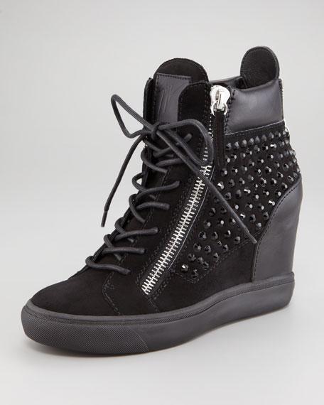 Strass Hidden-Wedge Sneaker