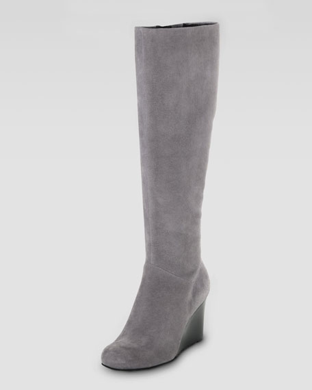 Cora Suede Wedge Boot
