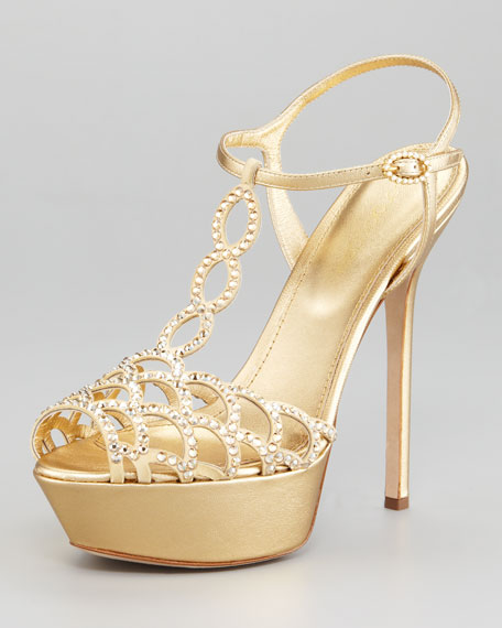 Crystallized Platform Sandal