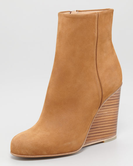 Plexiglass Wedge Heel Bootie
