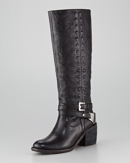 Bara Studded Leather Boot