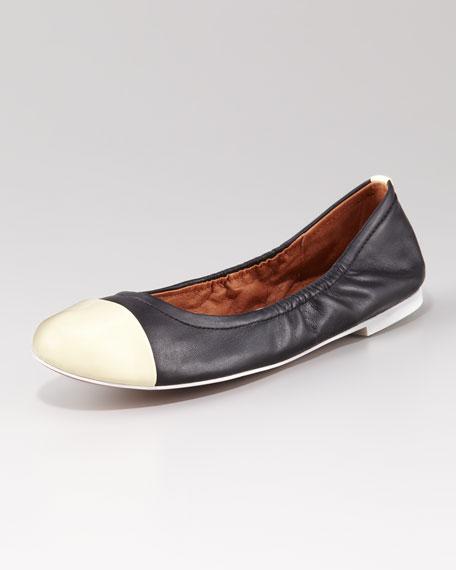 Baxton Cap-Toe Ballet Flat