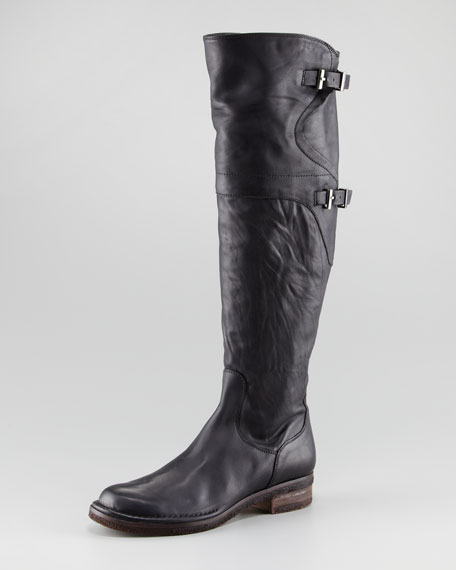 Double-Buckle Tall Boot
