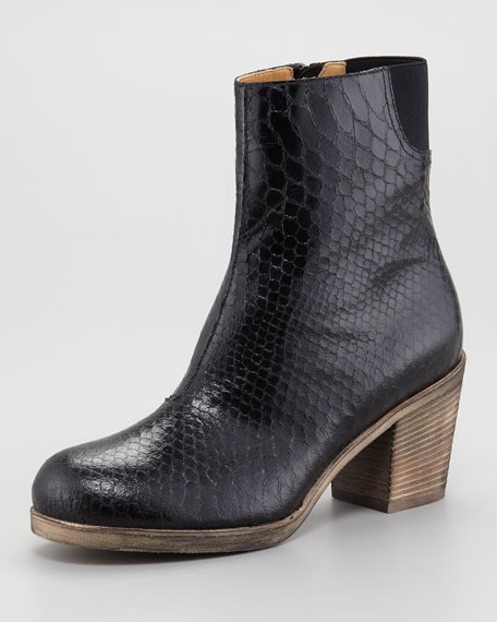Faux-Python Ankle Boot