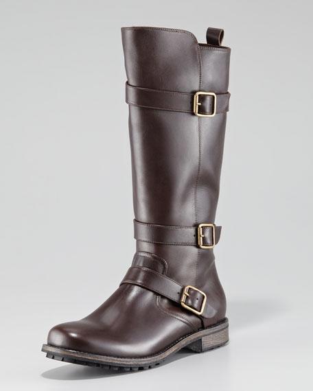 Varobasso Triple Buckle Mid-Calf Boot