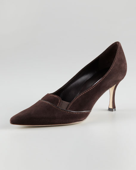 Aleka Suede Pointed-Toe Pump