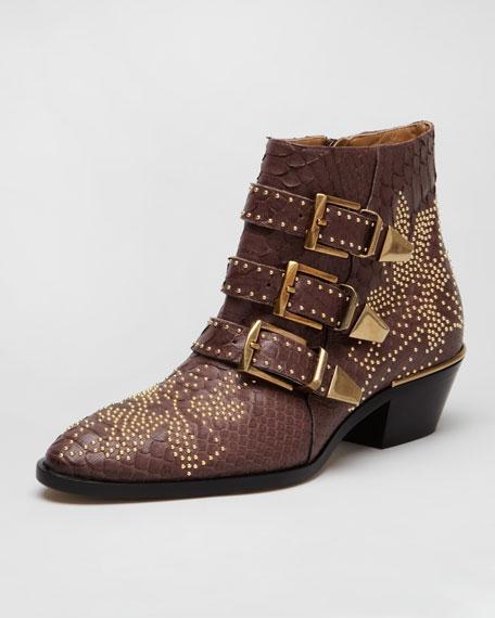 Suzanna Studded Python Boot
