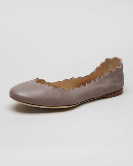 Soft Napa Leather Ballerina Flat