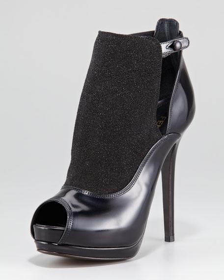 Victorian Galaxy Open-Toe Bootie