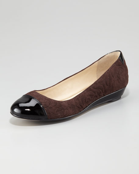 Pamona Low-Wedge Ballerina Flat