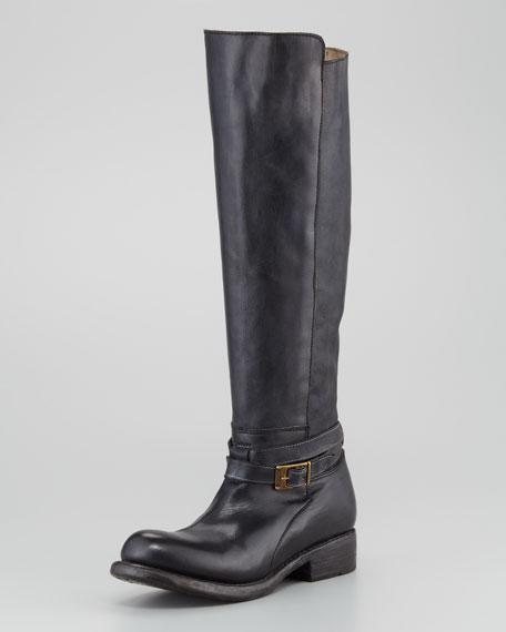 Rustic Bristol Boot, Black