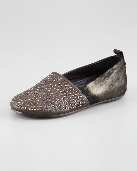 Kye Mix-Leather Flat