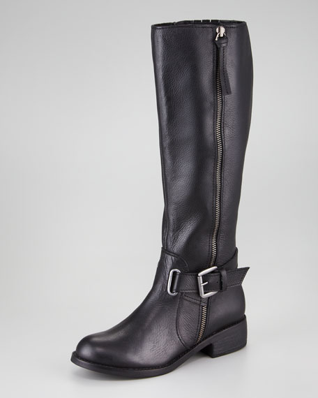Laced Ankle-Strap Tall Boot