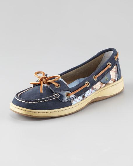Angelfish Plaid Boat Shoe