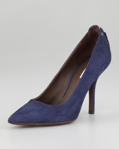 Tammy Back-Zip Pointed Pump