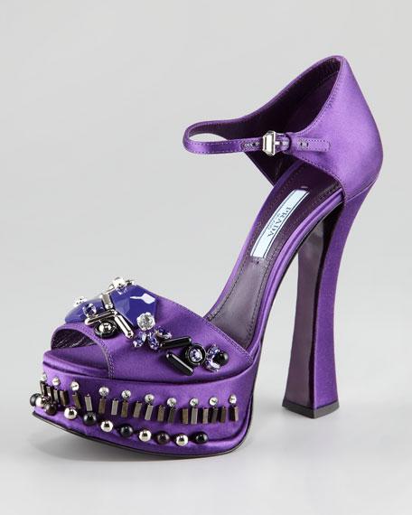 Jeweled Satin d'Orsay