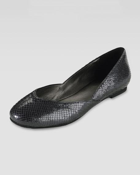Air Dana Snake-Printed Ballerina Flat