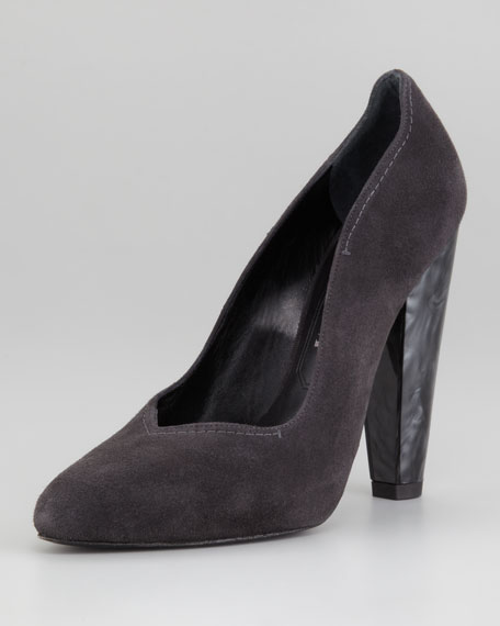 Scallopini High-Heel Pump, Anthracite