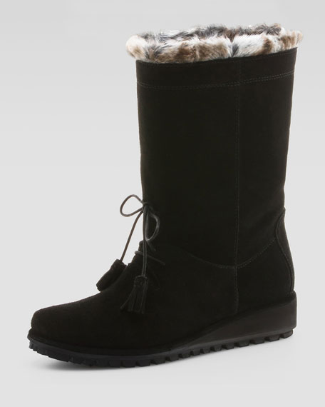 Sockette Faux-Fur-Trim Boot