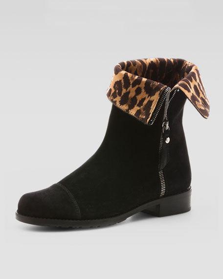 Duluth Leopard Print-Lined Boot