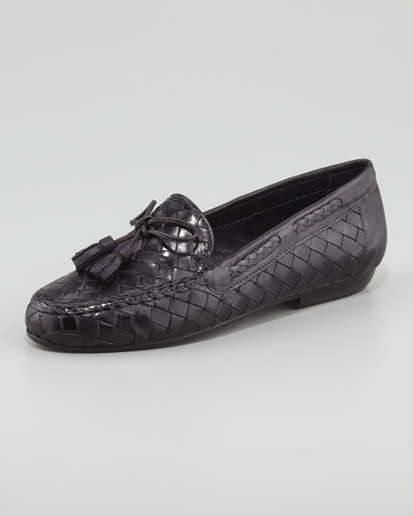 Neda Woven Leather Slip-On Loafer