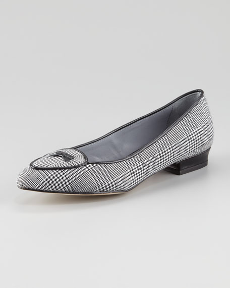 Laura Houndstooth Smoking Slipper