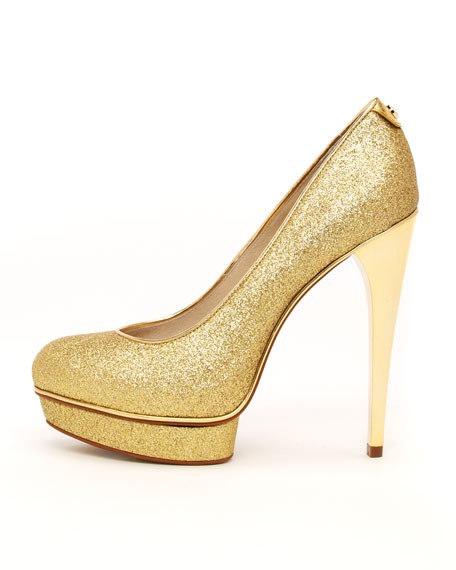 Gideon Glittered Leather Pump